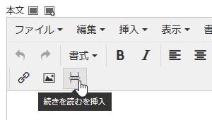 表記が続きを読むを挿入ボタンに変更
